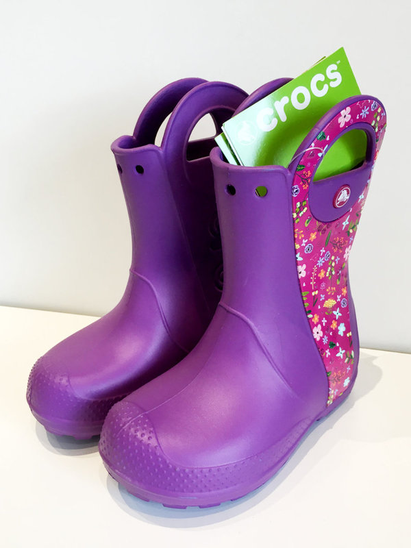 CROCS, Kids' Handle It Rain Boot, violetti